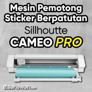 Mesin Pemotong Stiker Berpatutan Sillhoutte Cameo 4 Pro