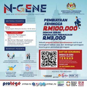 Program N-GENE: NEW GEN ENTREPRENEURS ONLINE BOOTCAMP Anjuran MEDAC